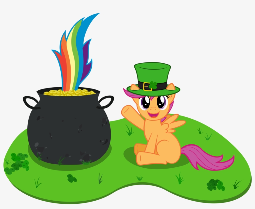 Stabzor, Clover, Cute, Cutealoo, Hat, Pot Of Gold, - Pot Of Gold End Rainbow, transparent png #302488