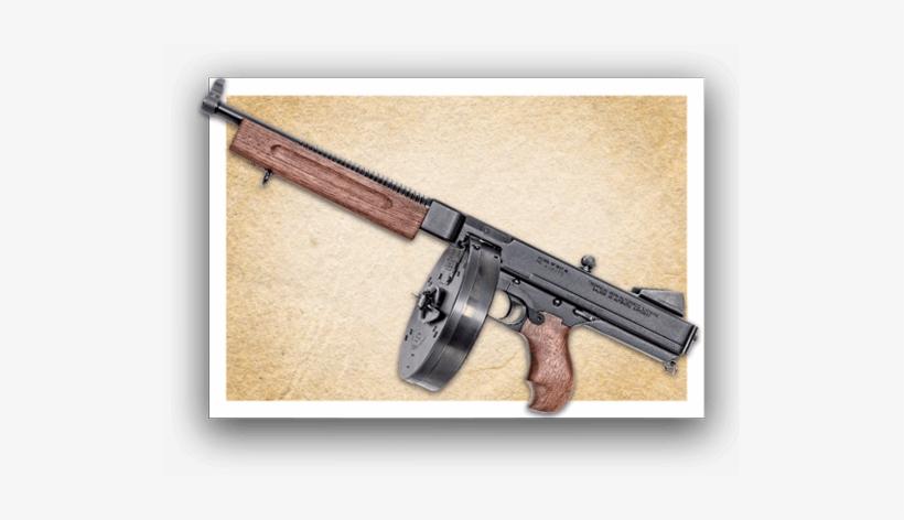 Thompson Pistol - Thompson .45 Machine Gun, transparent png #302581