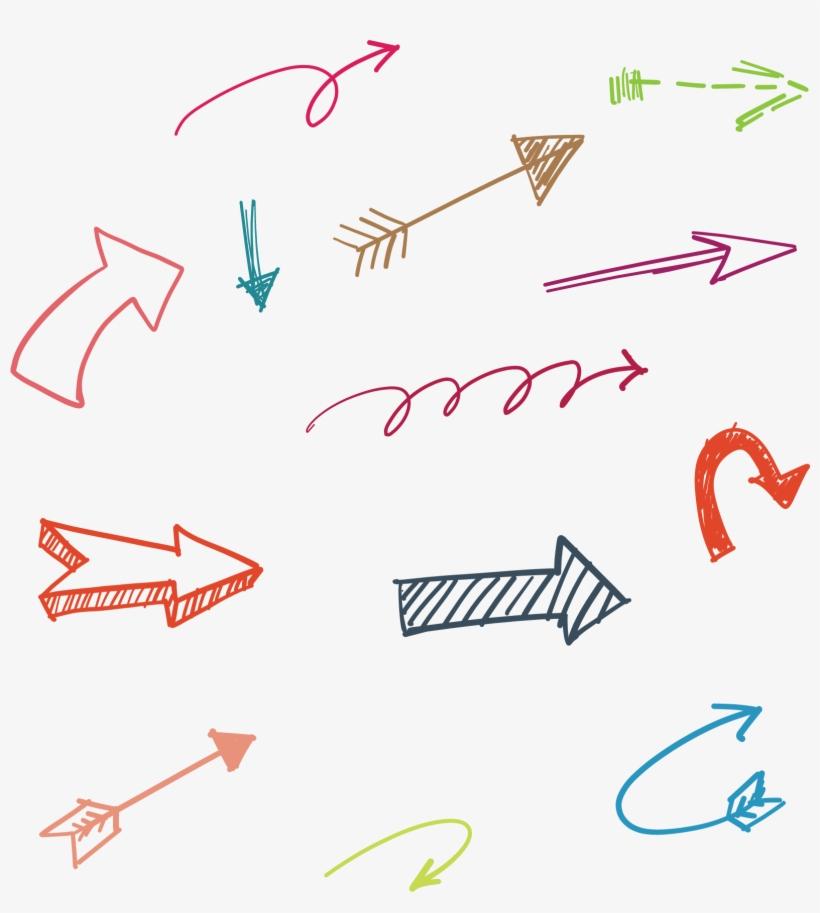 Vector Hand Drawn Arrow 1593*1697 Transprent Png Free - Setas Vetores, transparent png #302624