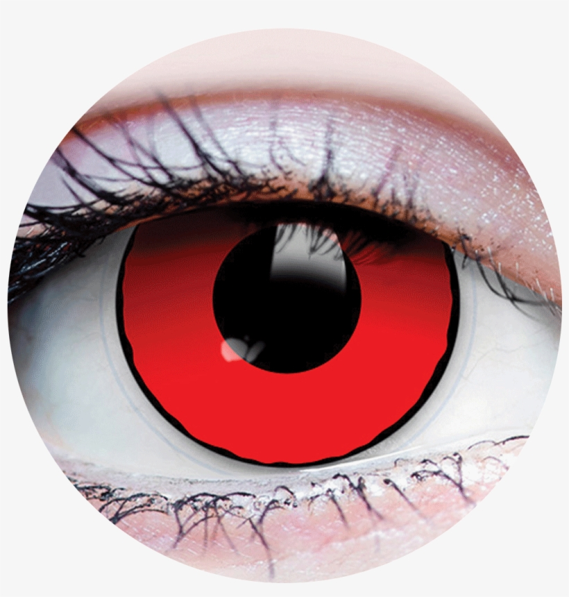 22907 Blood Eyes V=1522947583 - Primal Halloween Contacts 1 Pair Sauron, transparent png #302754