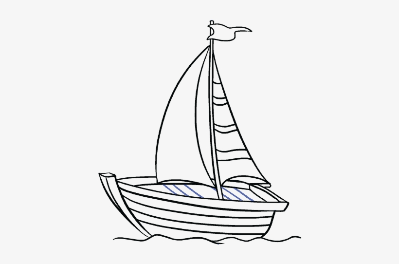 How To Draw A Boat In A Few Easy Steps Easy Drawing - Sketch A Boat Drawing, transparent png #304125