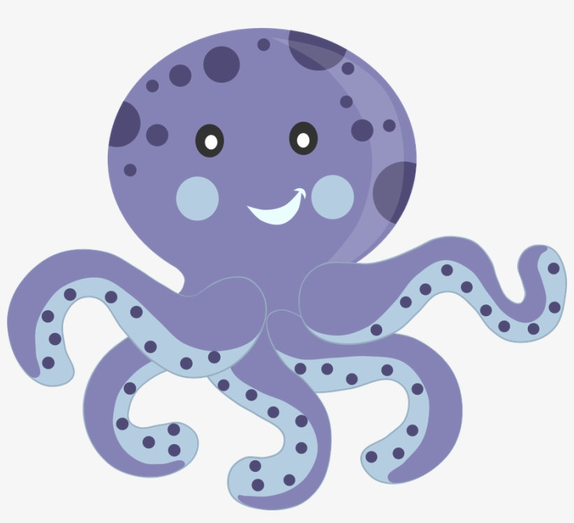 Octopus Clipart Aquatic Convite Fundo Do Mar Menino Free