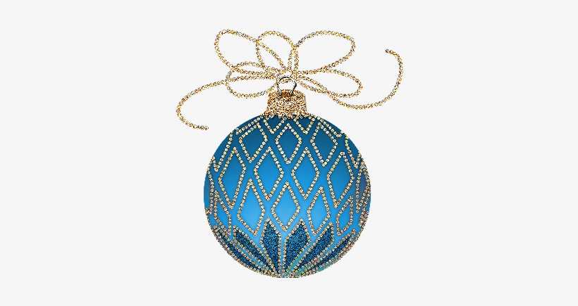 Silver Clipart Christmas Ornament - Blue And Gold Christmas, transparent png #305270