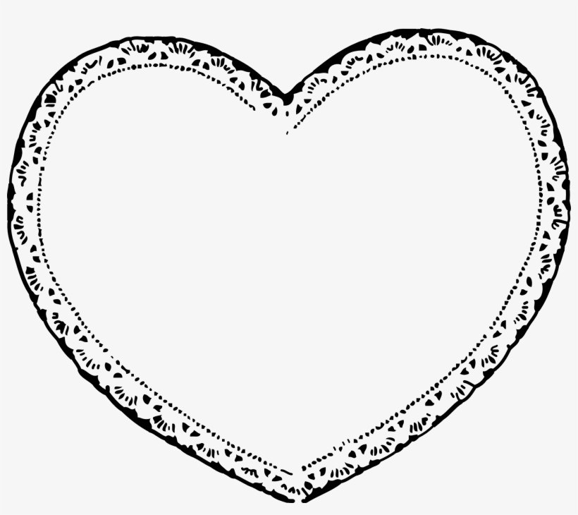 Lace heart. Laces clipart shaped free