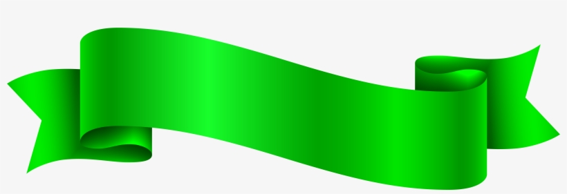 Green Banner Transparent Png Clip Art Image - Pink Ribbon Banner Clip Art, transparent png #306417