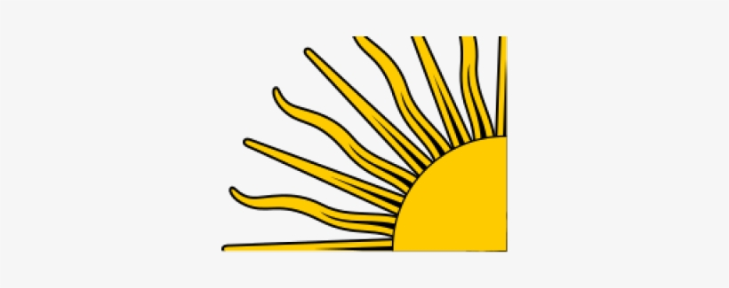 Sun Clipart Quarter Cute Borders Middle Of The Argentina Flag
