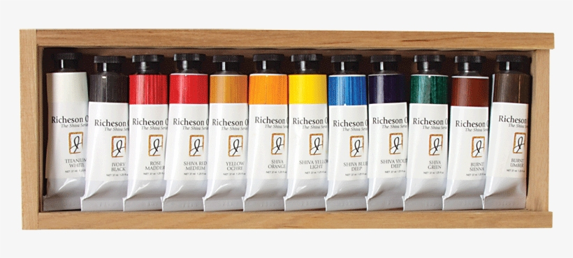 Richeson Oil, The Shiva Series Set Of 12 In Wooden - Jack Richeson 37-ml Artist Oil Colors, Set Of 12, transparent png #307715