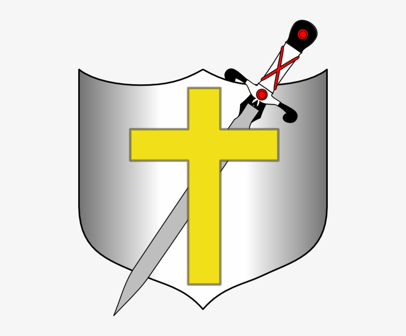 Sword And Shield Clip Art At Clker - Cross Sword And Shield, transparent png #308650