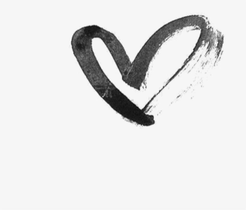 Heart Hearts Drawing Black Tumblr Draw Png Black Ribbon Heart