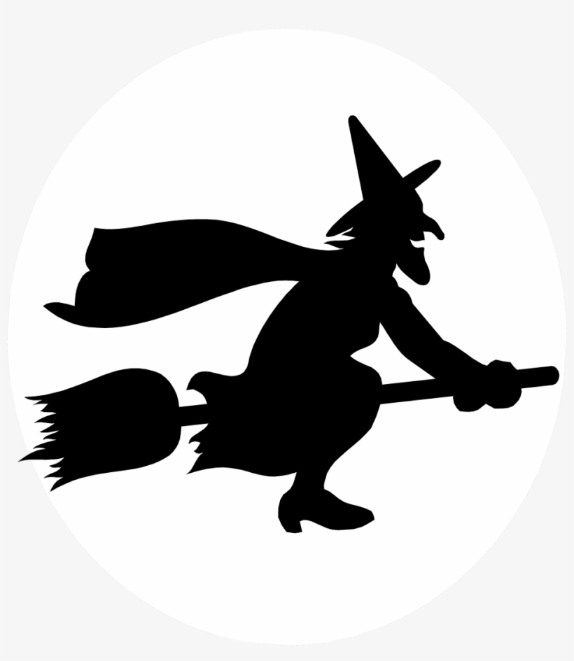 Witch Free Stock Photo Illustration Of Witch Flying Witch Riding A Broom Silhouette Free Transparent Png Download Pngkey