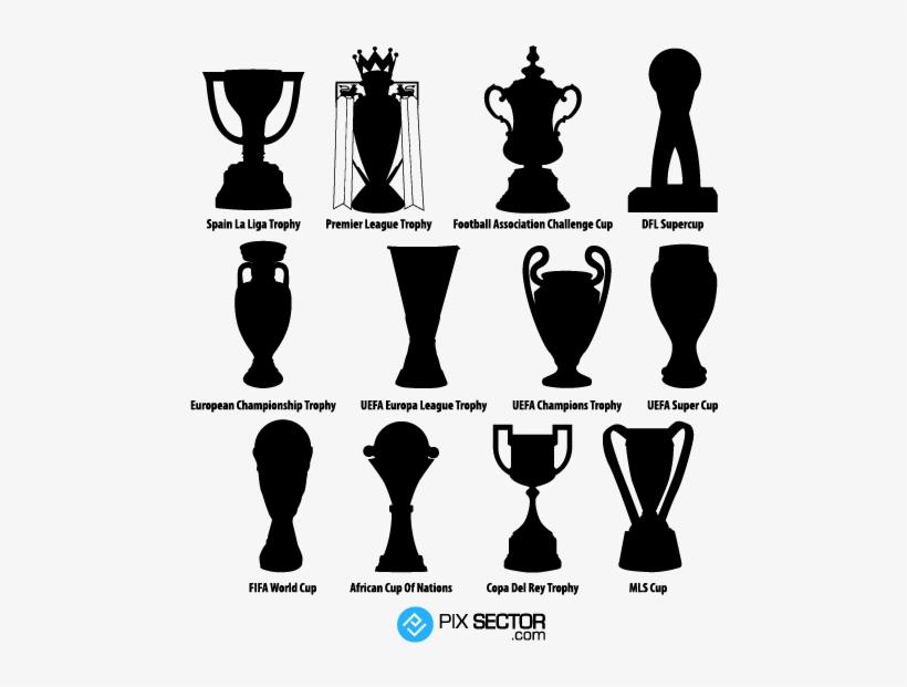Football Trophies Vector Png Premier League Trophy Vector Free Transparent Png Download Pngkey