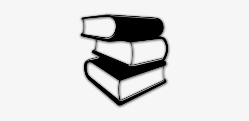 Books - Books Icon Black And White, transparent png #309457
