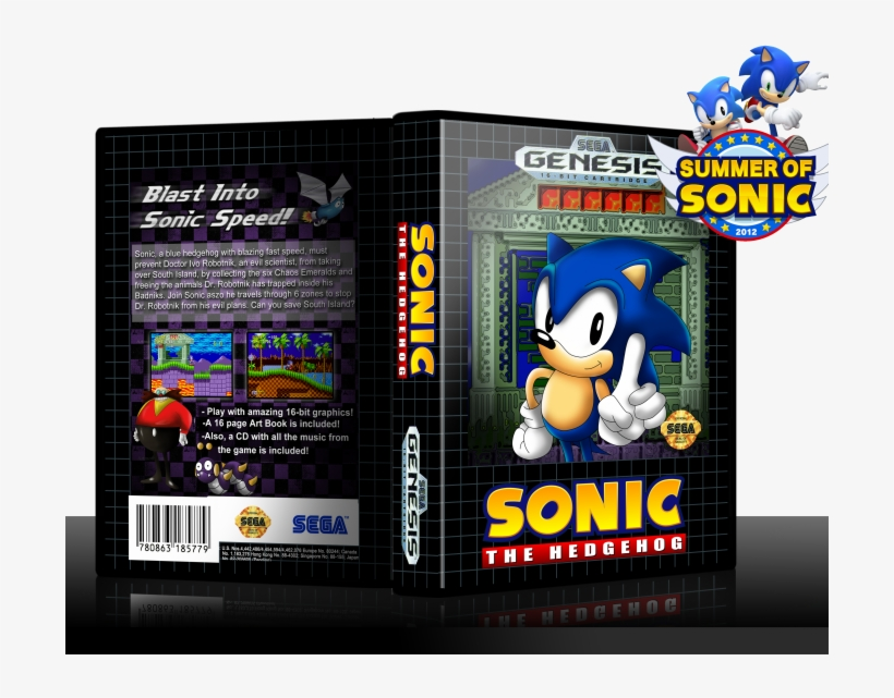 Sonic The Hedgehog Box Art Cover - Summer Of Sonic - Free