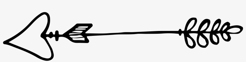 12 Hand Drawn Arrows - Hand Drawn Arrow Heart Transparent, transparent png #309709