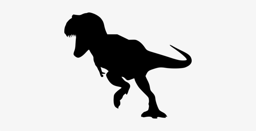 Silhouette, Dinosaur, Dino, Running - Dino Abe Acrylic Double-wall Tumbler, transparent png #3000429