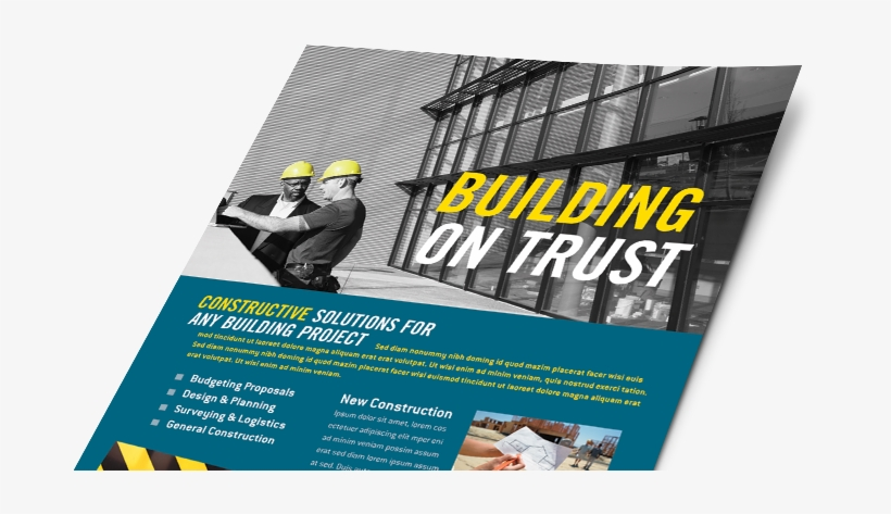 Construction Marketing Materials, Construction Graphic - Construction Company Marketing Brochure, transparent png #3001114