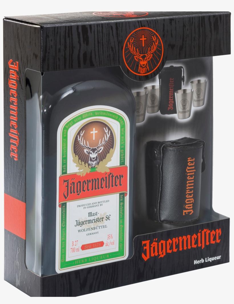 Jägermeister Liqueur & Shot Glass Gift Pack - Jägermeister Flasche 0 1, transparent png #3003276