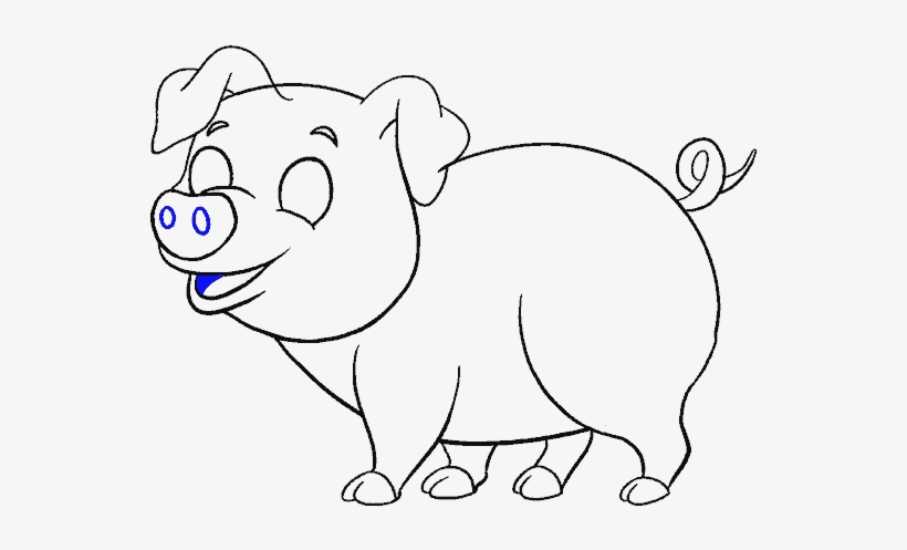 Drawn Boar Face Draw Pig Free Transparent Png Download Pngkey