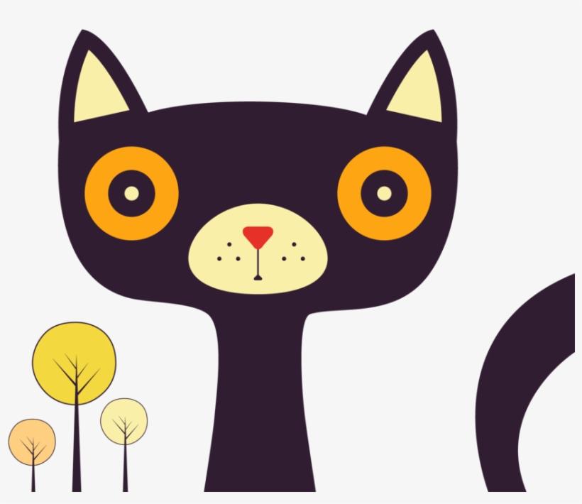 Fox Face Men's Printed Henley - Black Cat, transparent png #3005309