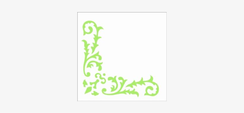 Stencil Cantoneira Arabesco Folhas Arabescos Desenhos Simples