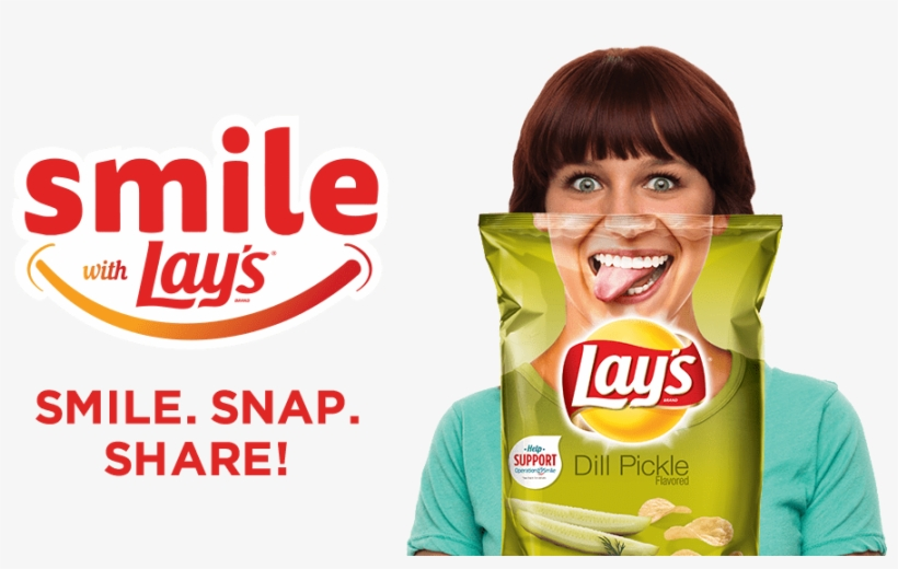 Lay's Chips Smile With Lay's - Lay's Potato Chips, Dill Pickle - 9.5 Oz Bag, transparent png #3006691