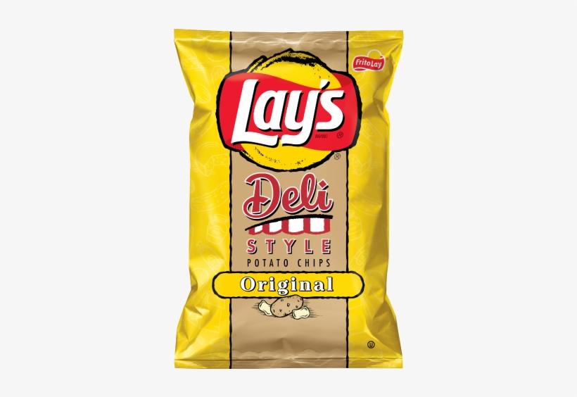 Lays Deli Style Original Vegan - Lay's Deli Style Original Potato Chips, transparent png #3006764