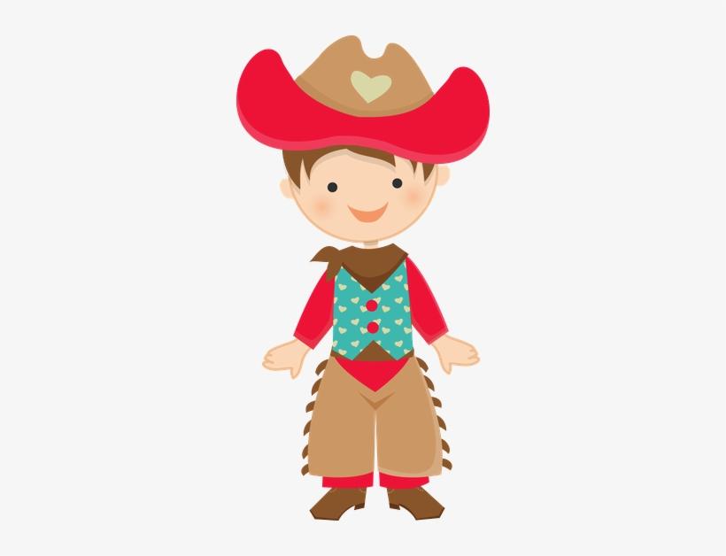 Cowboy E Cowgirl Menino Festa Junina Desenho Free Transparent