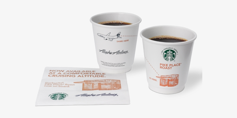 Alaska Airlines And We Proudly Brew Starbucks Coffee Cup