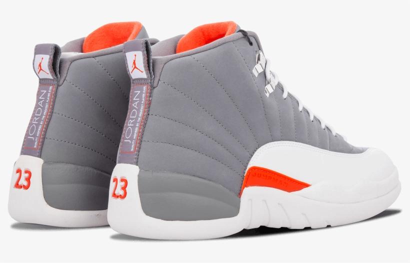 super popular 580ef 9eb73 Jordan 12 Jumpman Orangs And Gray - Air Jordan 12 Gray ...