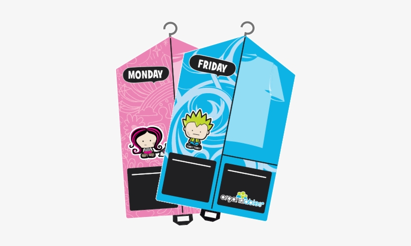 Weekday Clothes - Kids Clothing Organizer, transparent png #3013554
