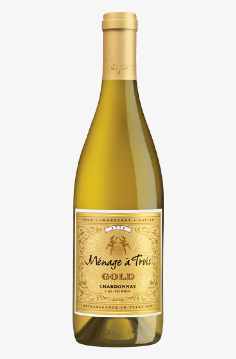 Menage A Trios Gold Chardonnay California - Menage A Trois Gold Chardonnay, transparent png #3015170