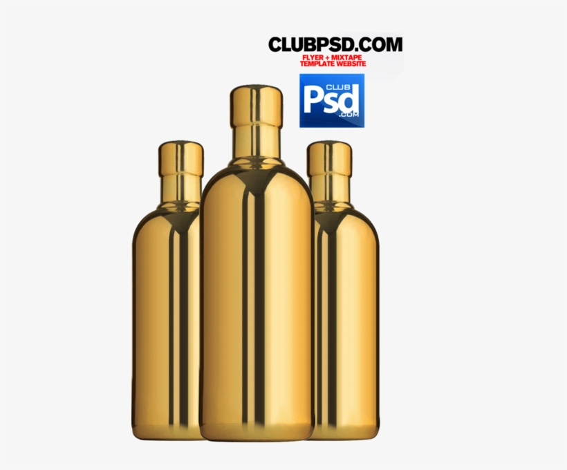 Gold Bottles - Gold Bottle Psd, transparent png #3015217