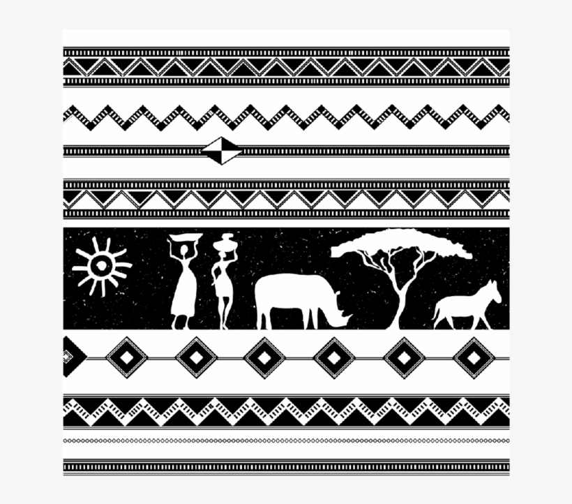 Black And White African Images Square Coaster - 20/20, transparent png #3015887