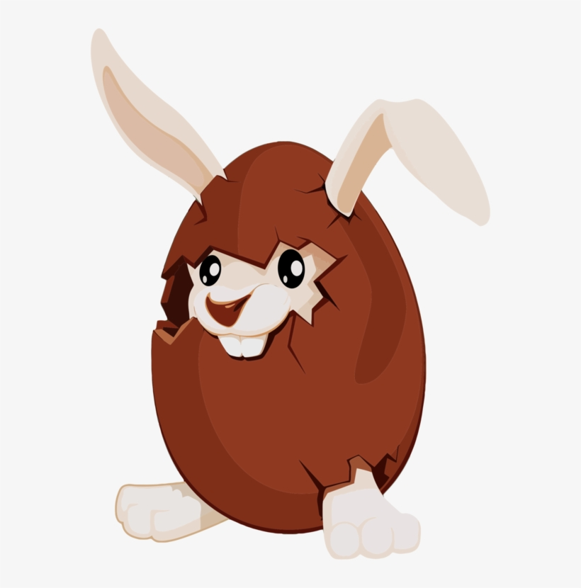 Easter Bunny Chocolate Bunny Easter Egg - Cartoon Chocolate Egg Png, transparent png #3016739