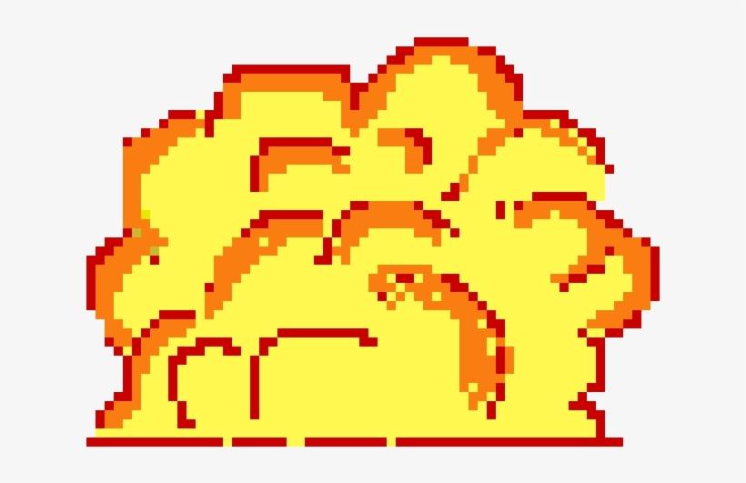 Explosion - Pixel Art, transparent png #3017570