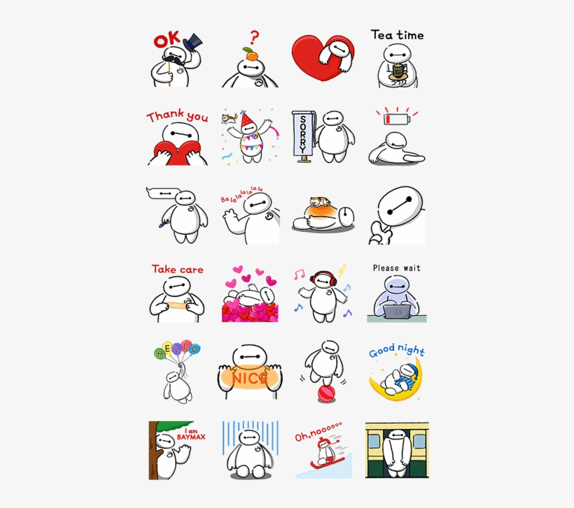 Big Hero - Cute Baymax Fb Stickers, transparent png #3021039