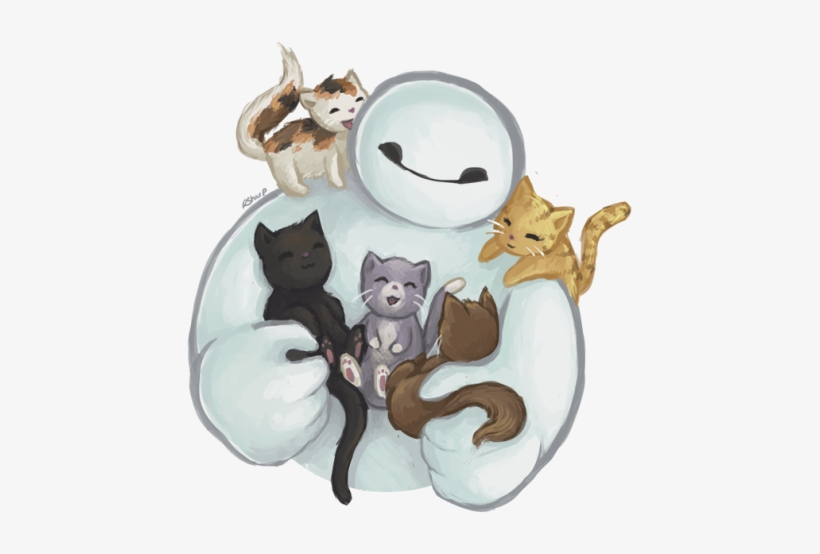 Drawn Grumpy Cat Baymax - Big Hero 6 Cats, transparent png #3021457