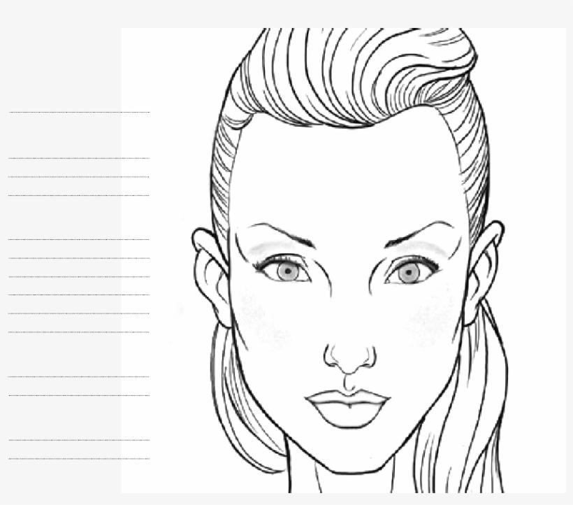 Blank Face Chart Temples - Makeup Design Makeup Face Chart, transparent png #3022014