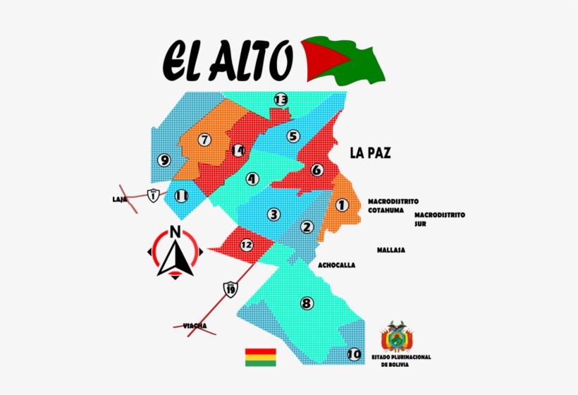 Distritos El Alto Mapa - Mapa De El Alto, transparent png #3024829