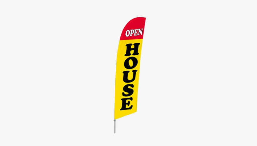 Open House Feather Flags - Open House Flags, transparent png #3025306
