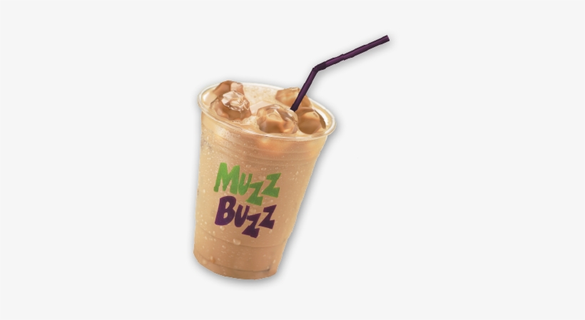 Muzz Buzz Is Iced Latte, Frappe, Milkshake, Ice Chocolate, - Ice Coffee Cup Png, transparent png #3026509