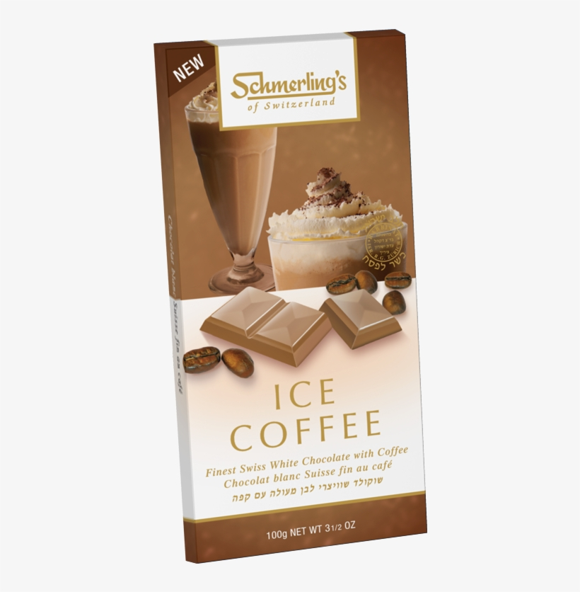 Ice Coffee - Schmerling's White Almond Milk Chocolate - 3.5 Oz Bar, transparent png #3026876