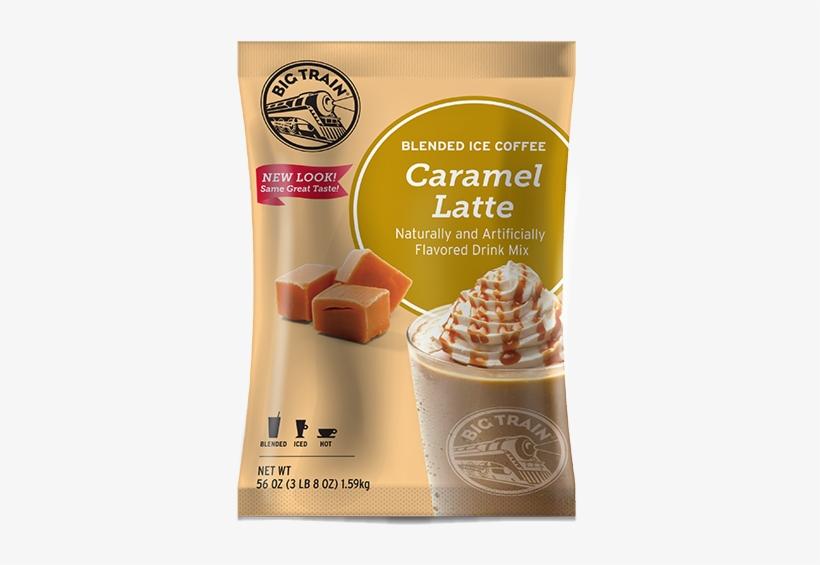 Big Train Caramel Ice Blended Coffee Powder - Ice Coffee Powder Mix, transparent png #3026934
