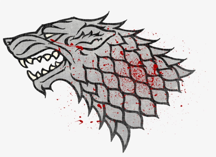 Winter Is Coming Wolf Symbol 2 - Game Of Thrones Art Sleeves House Stark, transparent png #3027220