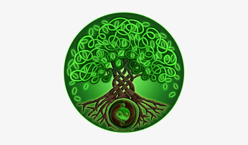 Circle Celtic Tree Of Life / Green / Air Element / - Celtic Art Tree Of Life, transparent png #3027934