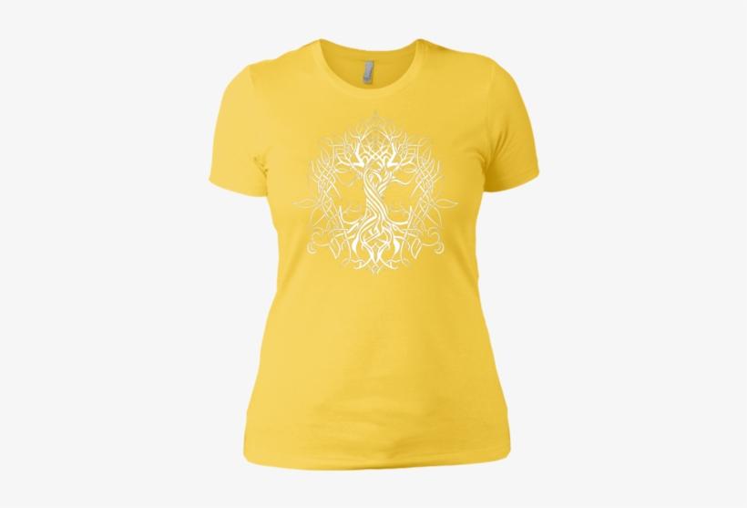 Yggdrasil Celtic - Yellow Honey Shirt, transparent png #3028534