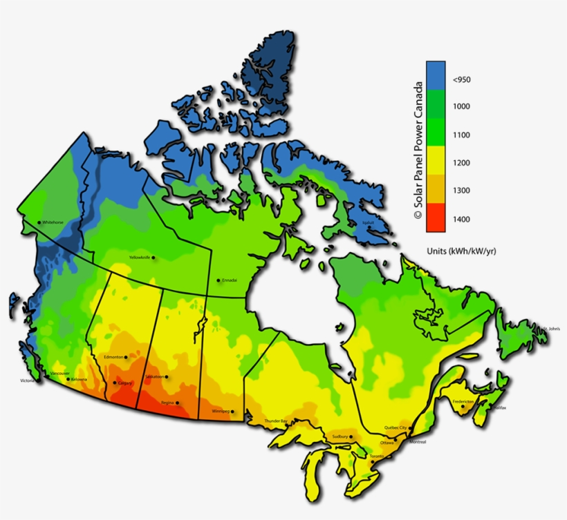 Download Map Of Canada.Solar Power Map Canada Canada Map Free Transparent Png Download