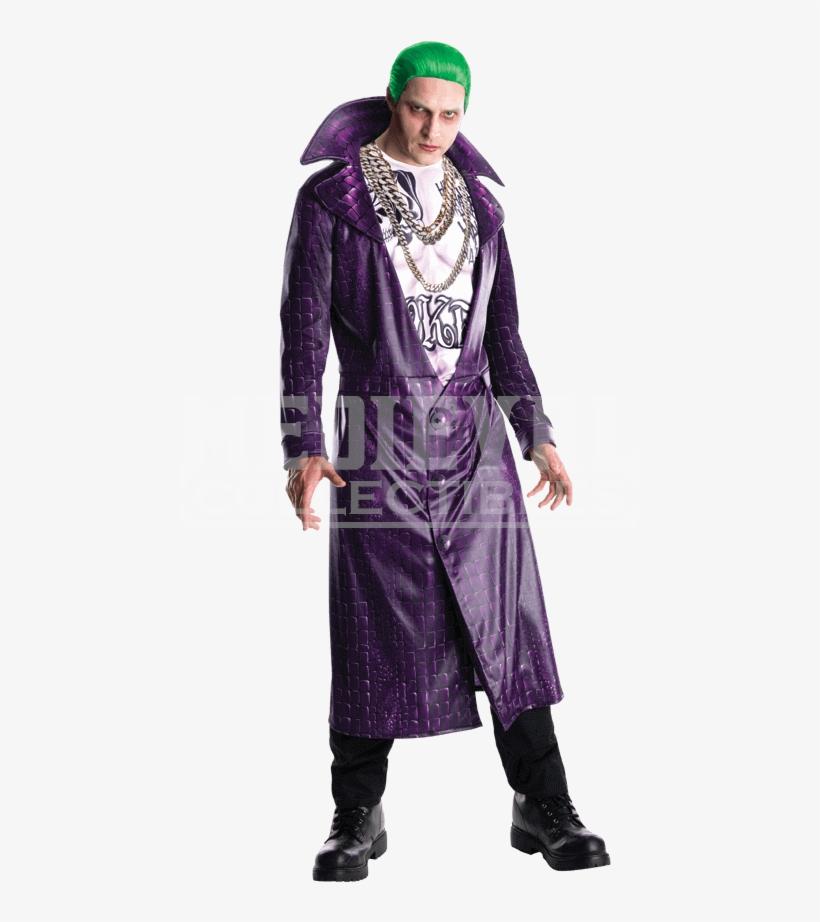 Deluxe Adult Suicide Squad Joker Costume - Suicide Squad Joker Dress, transparent png #3033132