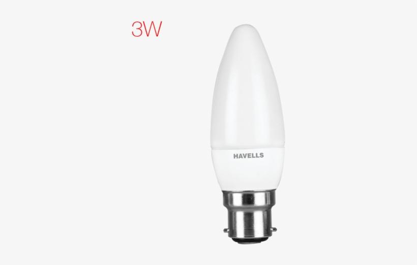 Lumeno Led 3w Candle Light - 3 Watt Led Bulb Warm White, transparent png #3041206