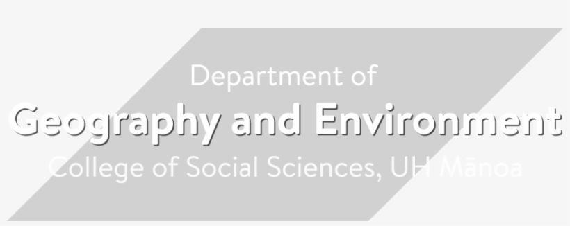 Department Of Geography And Environment, University - University Of Hawaiʻi At Mānoa, transparent png #3041499
